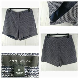 🌴Ann Taylor Women Tweed Striped Flat Front Shorts